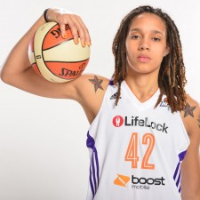 Mercury star Brittney Griner signing autographs May 15
