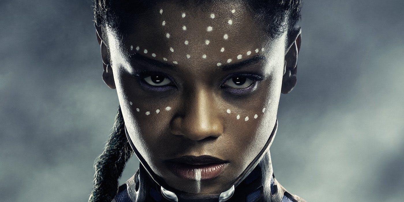 closeup of Black Panther's Shuri